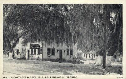 Hood's Cottages and Cafª - Pensacola, Florida FL Postcard