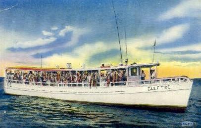 Deep Sea Fishing Motor Vessles - Pensacola, Florida FL Postcard