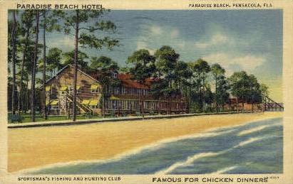 Paradise Beach Hotel - Pensacola, Florida FL Postcard