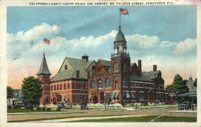 Escambria Country Court - Pensacola, Florida FL Postcard