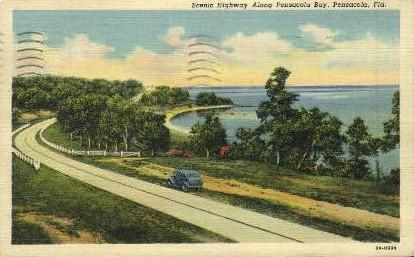 Pensacola Bay - Florida FL Postcard