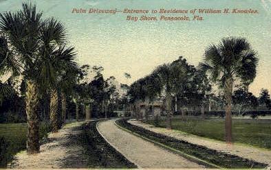 William H. Knowles Residences - Pensacola, Florida FL Postcard