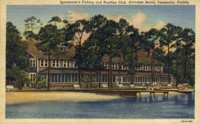 Sportsman's Fishing - Pensacola, Florida FL Postcard