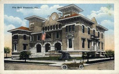 City Hall - Pensacola, Florida FL Postcard