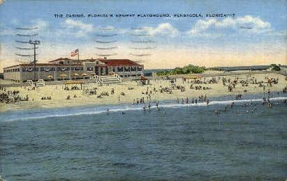 The Casino - Pensacola, Florida FL Postcard
