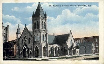 St. Michaels Church - Pensacola, Florida FL Postcard