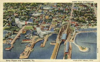 Navy Planes - Pensacola, Florida FL Postcard