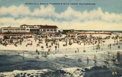Pensacola Beach - Florida FL Postcard