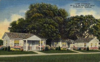 Court Chandler - Pensacola, Florida FL Postcard