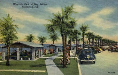 Wayside Park - Pensacola, Florida FL Postcard