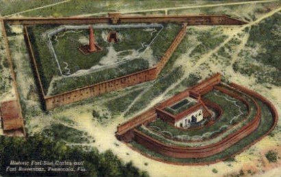 Fort San Carlos  - Pensacola, Florida FL Postcard