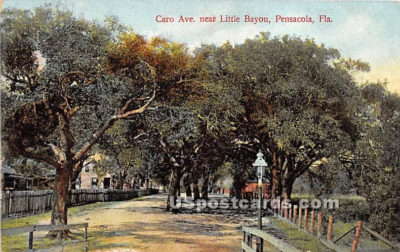Caro Ave, Little Bayou - Pensacola, Florida FL Postcard