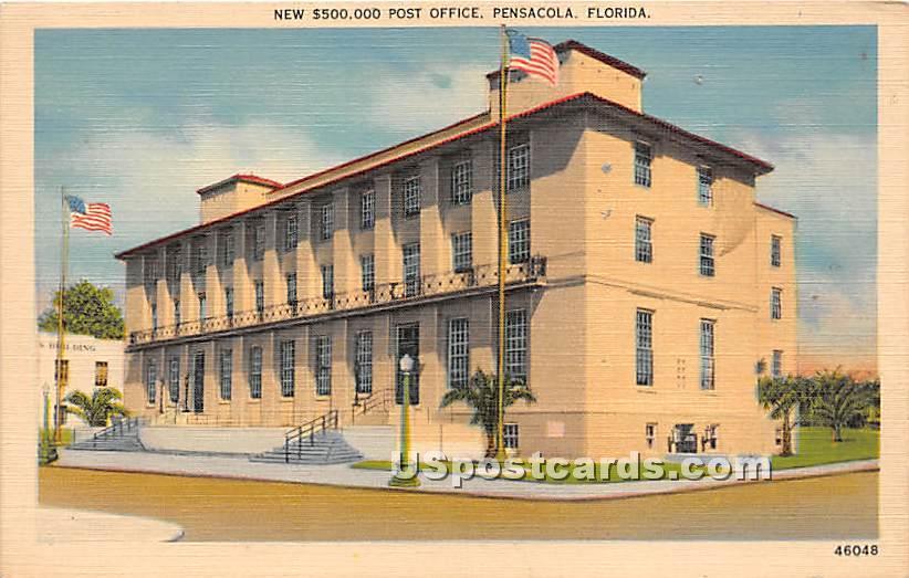 New $500,000 Post Office - Pensacola, Florida FL Postcard