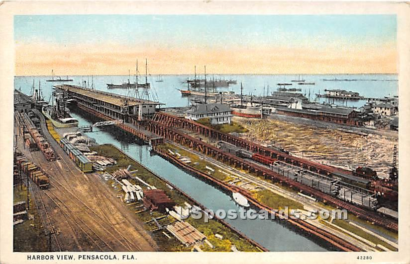 Harbor View - Pensacola, Florida FL Postcard