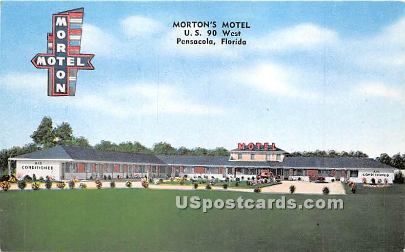 Morton's Motel - Pensacola, Florida FL Postcard