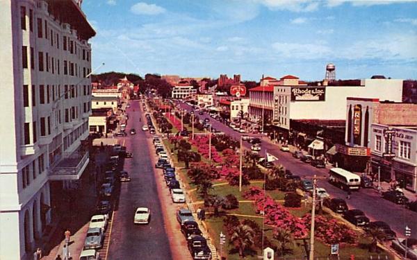 Pensacola's lovely Parkway on North Palafox Street Florida Postcard