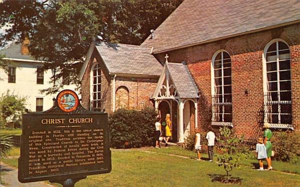 Old Christ Church Pensacola, Florida Postcard