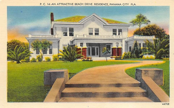 An Attractive Beach Drive Residence Panama City, Florida Postcard