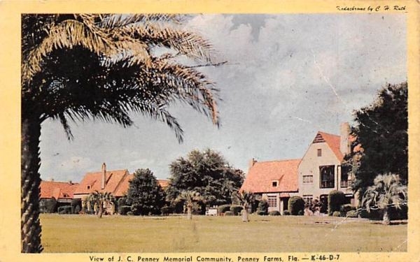 View of J. C. Penney Memorial Community Penney Farms, Florida Postcard