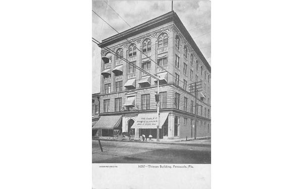 Thiesen Building Pensacola, Florida Postcard