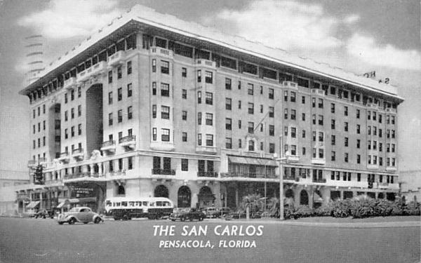 The San Carlos Pensacola, Florida Postcard