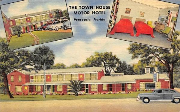 The Town House Motor Hotel Pensacola, Florida Postcard