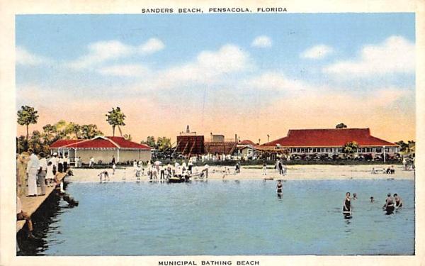 Sanders Beach Pensacola, Florida Postcard