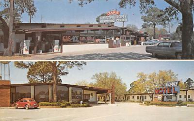 The Oaks Restaurant - Motel - Shopping Center Panacea, Florida Postcard