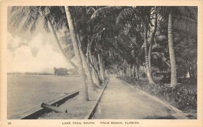 Lake Trail South Palm Beach, Florida Postcard