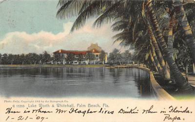Lake Worth & Whitehall Palm Beach, Florida Postcard