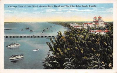 Lake Worth showing Royal Daneli and The Alba Palm Beach, Florida Postcard