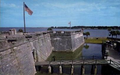 Castillo De San Marcos Monument - St Augustine, Florida FL Postcard