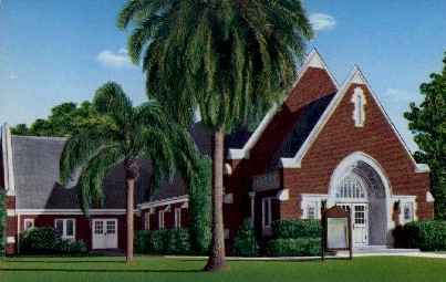 St. Paul Lutheran Church - Tampa, Florida FL Postcard