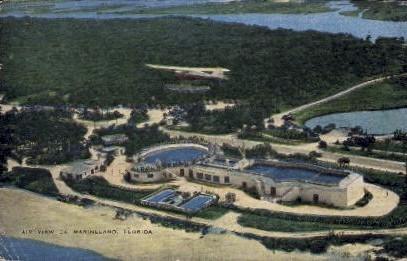 Air View - Marineland, Florida FL Postcard