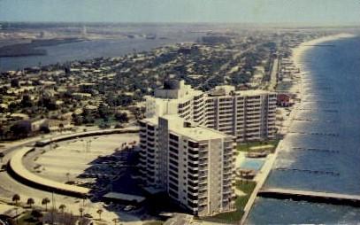 Air View - Clearwater Beach, Florida FL Postcard
