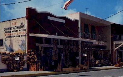 Sponge Markets - Tarpon Springs, Florida FL Postcard