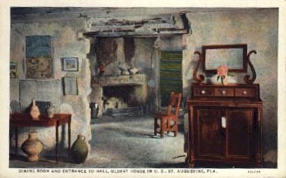 Entrance to Hall, Oldest House in U.S. - St Augustine, Florida FL Postcard