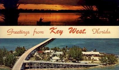 Greetings - Key West, Florida FL Postcard