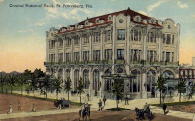 Central National Bank - St Petersburg, Florida FL Postcard