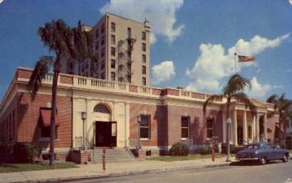 U.S. Postal Office - Lakeland, Florida FL Postcard