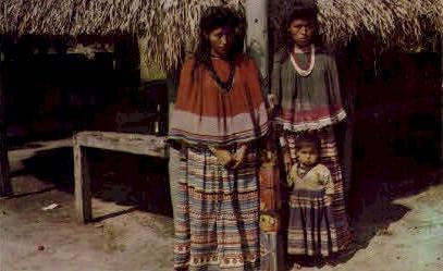 Indian Maids and Child - Miami, Florida FL Postcard