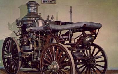 Steam Fire Pumper - Silver Springs, Florida FL Postcard