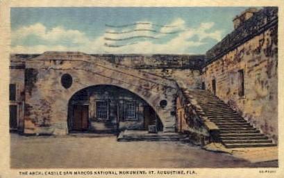 castle San Marcos National Monument - St Augustine, Florida FL Postcard