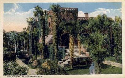 Villa Flora - St Augustine, Florida FL Postcard