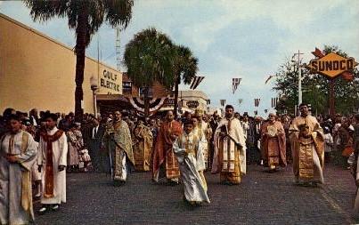 Greek Epiphany Ceremony  - Tarpon Springs, Florida FL Postcard