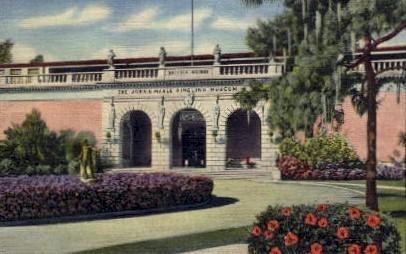 Entrance to Ringling Art Museum - Sarasota, Florida FL Postcard