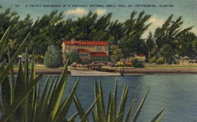 A Pretty Residence in a Tropical Setting - St Petersburg, Florida FL Postcard