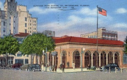 Outdoor Post Office - St Petersburg, Florida FL Postcard