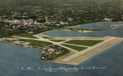 Albert Whitted Airport - St Petersburg, Florida FL Postcard