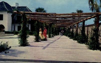 Hispanic Garden - St Augustine, Florida FL Postcard